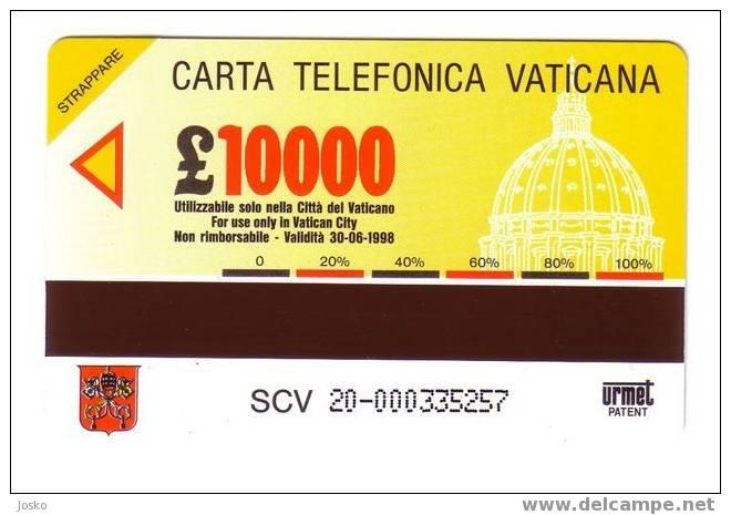 VATICAN SCV 20  ( Mint Card - Lire 10.000 ) **  AULA PAOLO VI - P.Fazzini  - Religione - Sculpture - Vatican