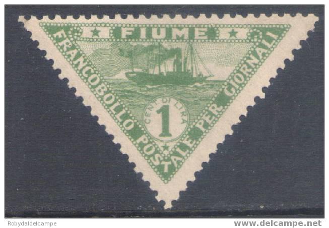 Fiu5Annl - FIUME - Sassone # 5A Nuovo Mai Linguellato - 8. WW I Occupation