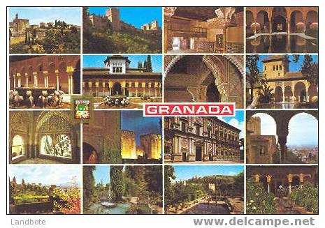 Granada No 144 Alhambra Y Generalife Diversos Aspectos - Granada