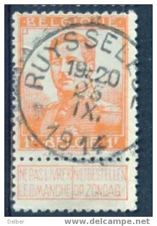 Xk746:N°116 : Afgetempeld : E18: RUYSSELEDE  25 IX. 1914 - Invasion