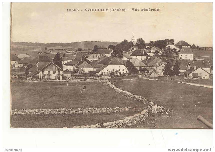 4026 AVOUDREY Vue Générale . 10565 C.L.B. Besancon - Montbéliard