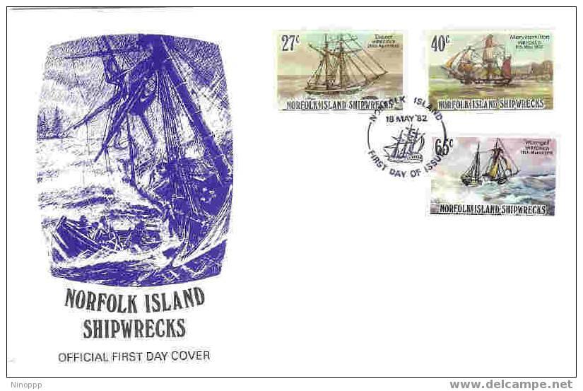 Norfolk-1982 Shipwrecks Part I FDC - Norfolk Island