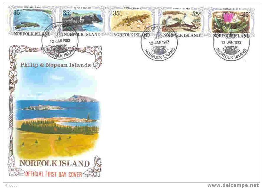 Norfolk-1982 Nepean Island FDC - Norfolk Island
