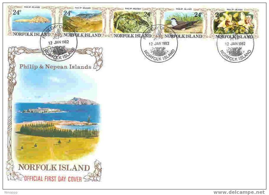Norfolk-1982 Philip Island FDC - Norfolk Island
