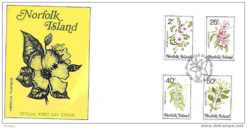 Norfolk-1984 Flowers Part I  FDC - Norfolk Island