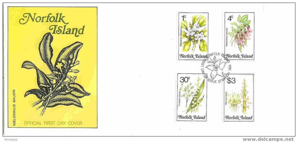 Norfolk-1984 Flowers Part III  FDC - Norfolk Island