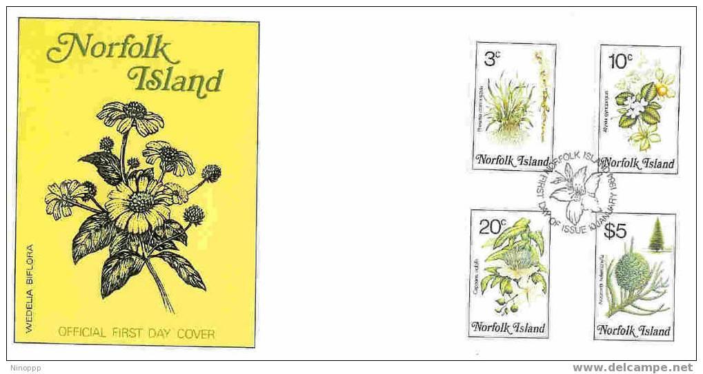 Norfolk-1984 Flowers Part IV  FDC - Norfolk Island