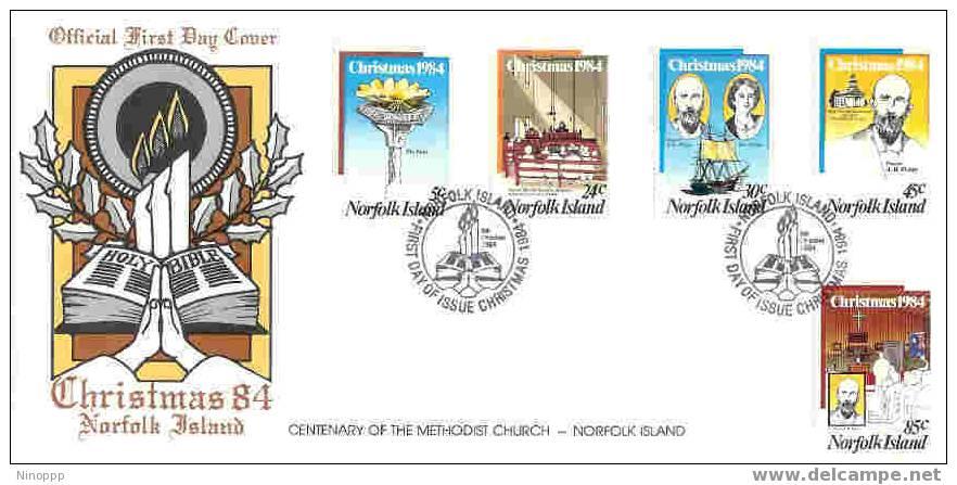 Norfolk-1984 Christmas FDC - Norfolk Island
