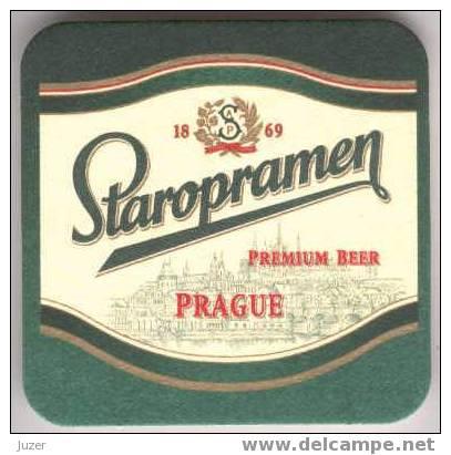 Czechia: STAROPRAMEN Beer Coaster (2) - Sous-bocks