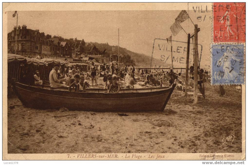 14 / 7 / VILLERS SUR MER  /  LA PLAGE LES JEUX - Villers Sur Mer