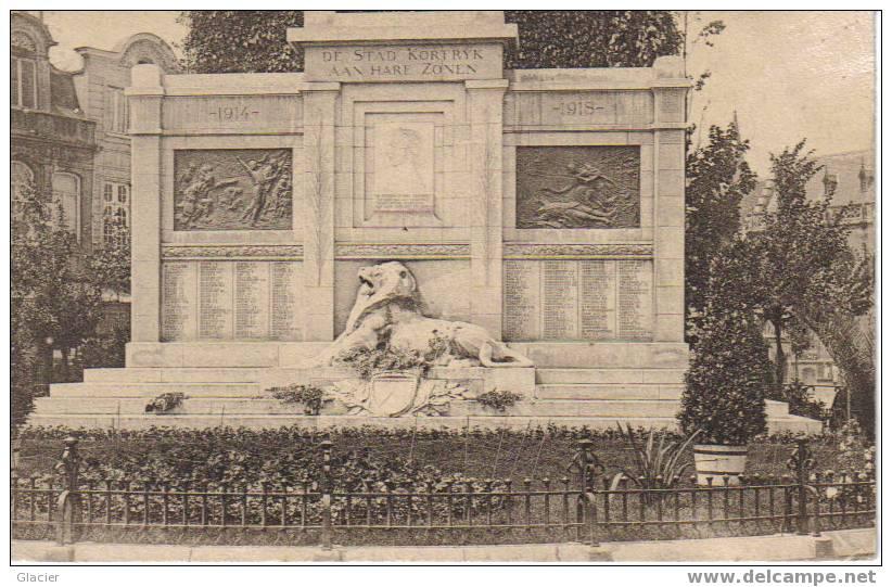 KORTRIJK - Standbeeld 1914-1918 Op Grote Markt - Kortrijk