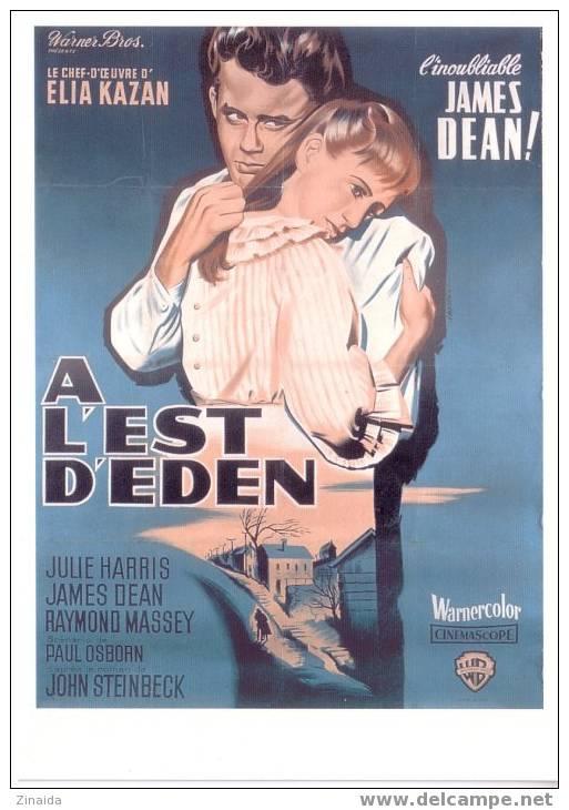 CARTE POSTALE DE L´AFFICHE DE ´ A L´EST D´EDEN ´ ( EAST OF EDEN ) AVEC JAMES DEAN - Posters On Cards