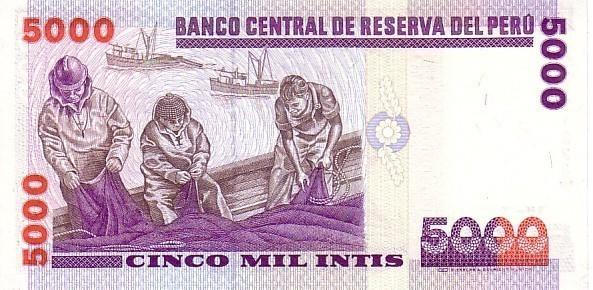 PEROU  5 000 Intis Daté Du 28-06-1988  Pick 137   ****BILLET  NEUF**** - Perú