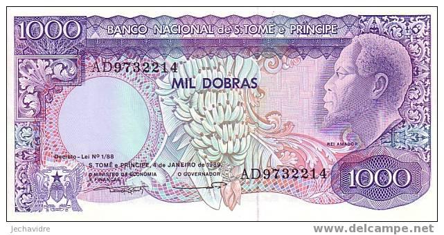 SAO TOME Et PRINCIPE   1 000 Dobras  Daté Du 04-01-1989   Pick 62     ***** BILLET  NEUF ***** - Sao Tomé Et Principe