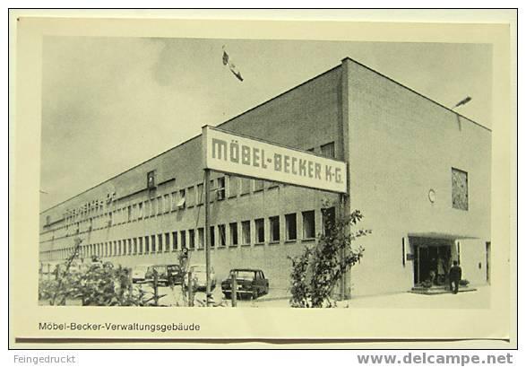 D 2998 - Möbel-Becker-Verwaltungsgebäude - S/w Foto Ak - Händler