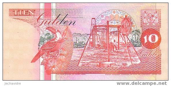 SURINAM   10 Gulden  Daté Du 01-12-1996   Pick 137b     ***** BILLET  NEUF ***** - Surinam