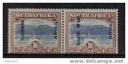 914 - SOUTH WEST AFRICA , COPPIA DEL 10 SHILLING  * - Africa Del Sud-Ovest (1923-1990)