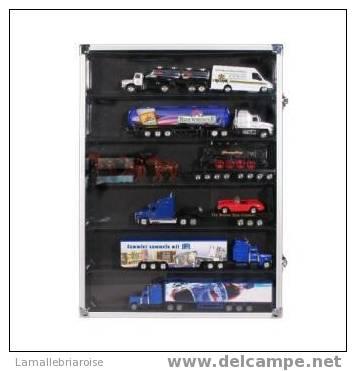 VITRINE POUR 6 CASES POUR MINIATURES - 395 X 295 X 45mm -PROFONDEUR DES EMPLACEMENTS 30mm - Autres Collections