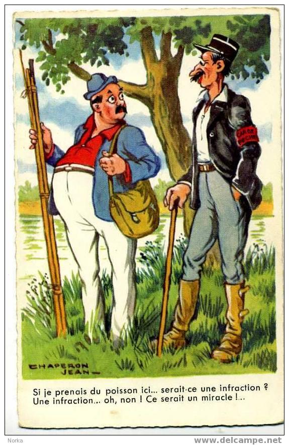 Illustrateur: JEAN CHAPERON. Si Je Prenais Du Poisson Ici... - Chaperon, Jean