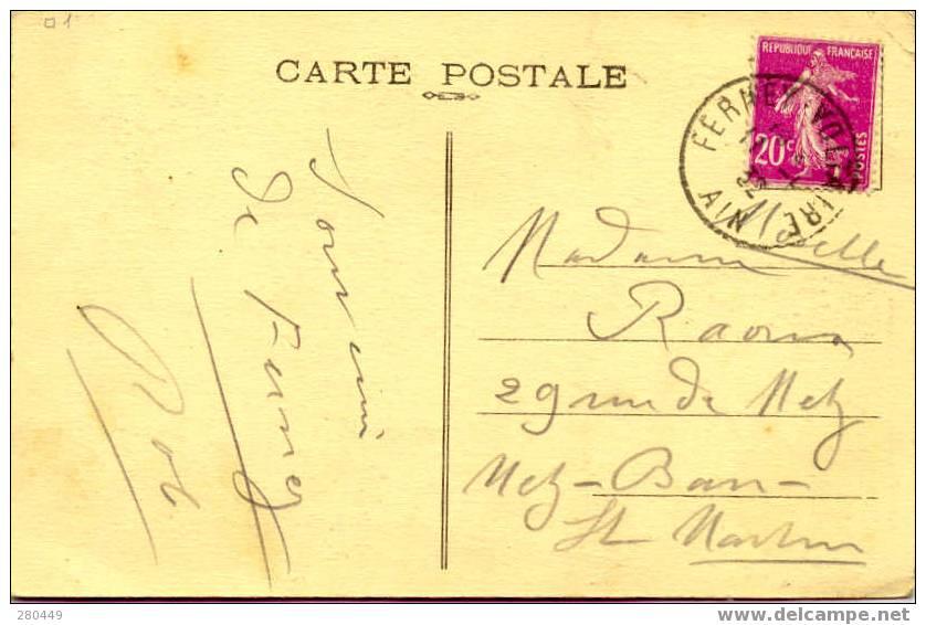 Old Postcard Chateau, Castle Voltaire, Ferney-Voltaire 11-1-1932 - Schrijvers