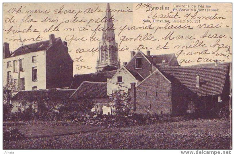 SCHAERBEEK = Environs De L'église St Servais  (Nels  S.1   N° 234)  1904 - Schaarbeek - Schaerbeek