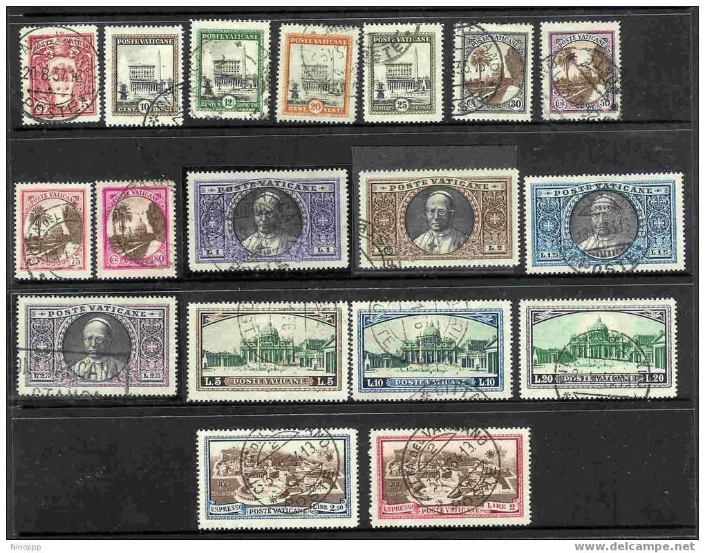 Vatican City-1931 Definitive Used Set - Vatican
