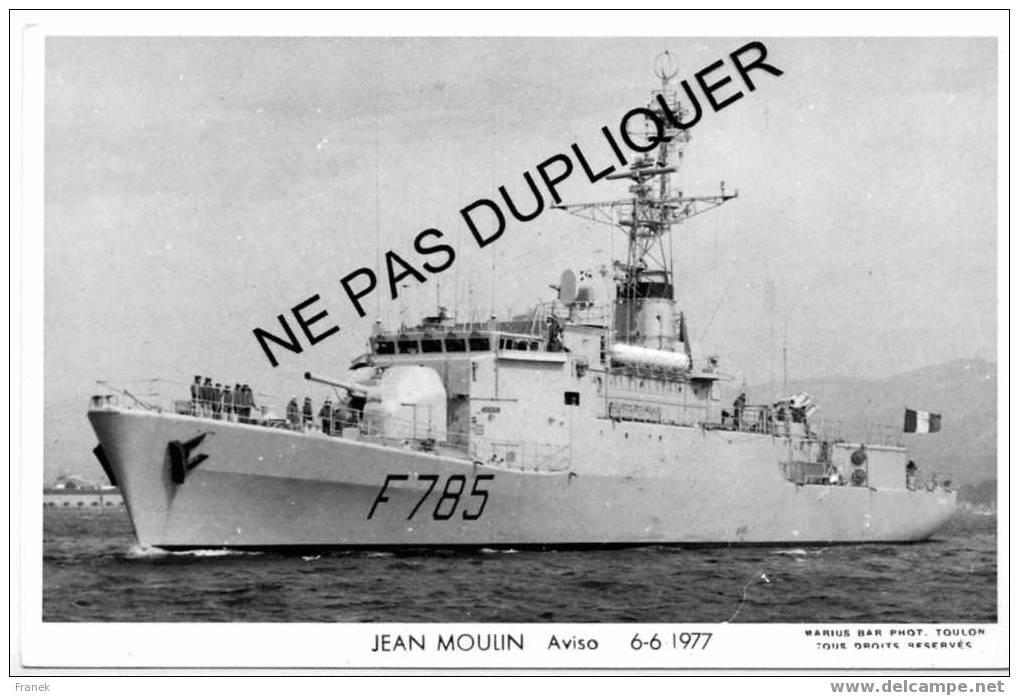 "2813 Aviso F785 ""JEAN MOULIN"" (06-06-1977) - Marine Nationale - Photo Marius Bar - Krieg"