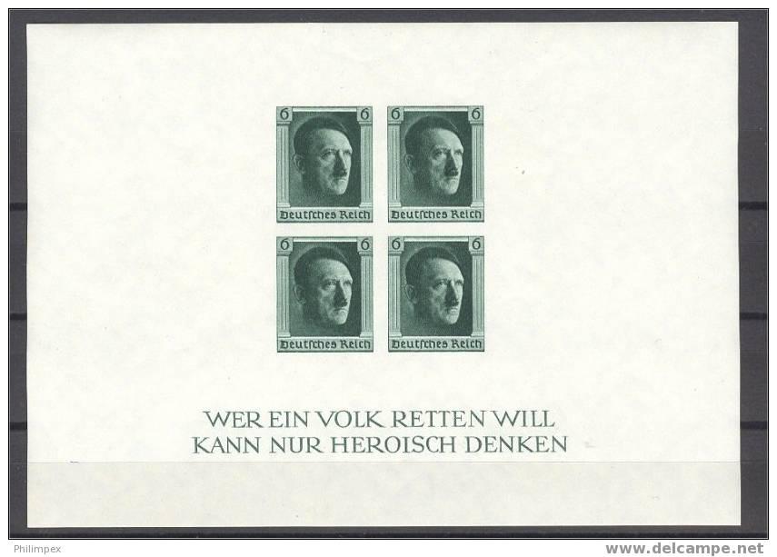 GERMANY REICH, SOUVENIR SHEET 1937 IMPERFORATED - Deutschland