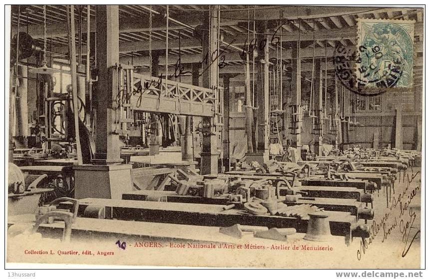 Carte Ancienne Angers - Ecole Nationale D\´Arts Et Métiers - Atelier De Menuiserie - Angers