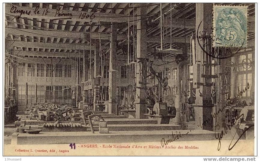 Carte Ancienne Angers - Ecole Nationale D\´Arts Et Métiers - Atelier Des Modèles - Angers