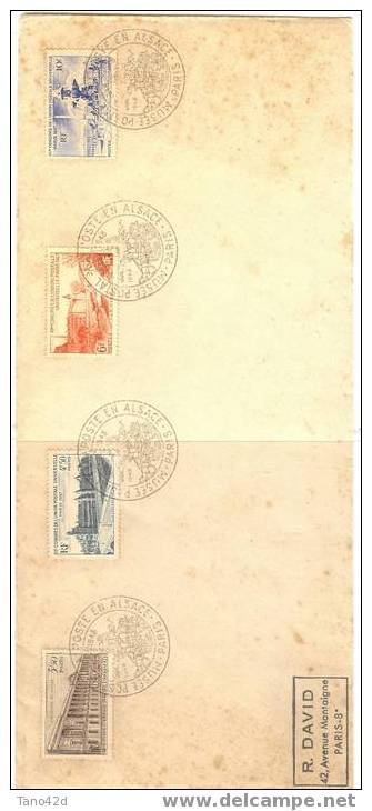 REF LMM6 - FRANCE - PLI PHILATELIQUE  - XII° CONGRES UPU 1947 SUR LETTRE OBL. COMM. MUSEE POSTAL 26/7/1948 - France