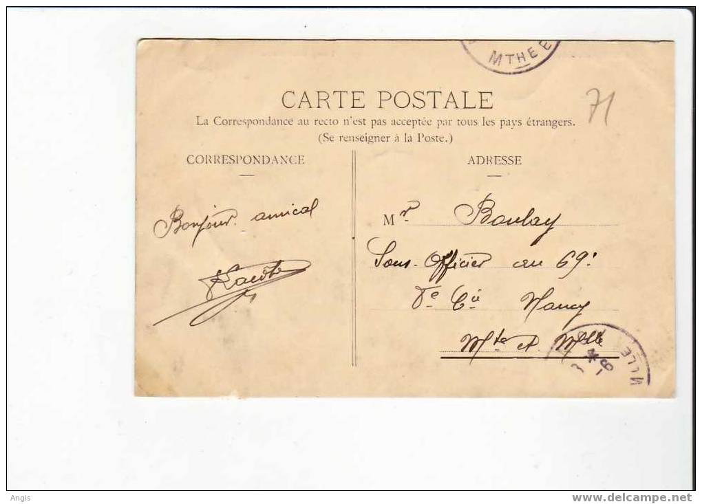 CPA--71----CADOLON----ETANG - France