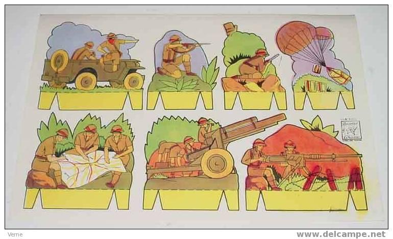ANTIGUO RECORTABLE AZUCENA - ED. ROMA - Nº 4 - MIDE 25 X 17,5 CMS. PAPER SOLDIER - SOLDADO - Militares