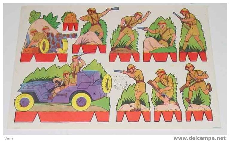 ANTIGUO RECORTABLE ROSITA - ED. ROMA - Nº1 - MIDE 17,5 X 12,5 CMS. PAPER SOLDIER - SOLDADO - Militares