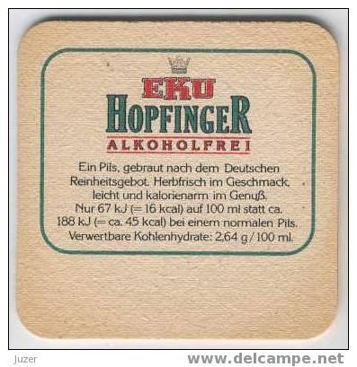 Germany: EKU Beer Coaster - Sous-bocks