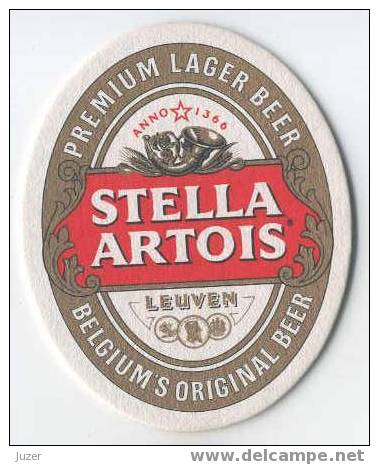 Belgium: STELLA ARTOIS Beer Coaster - Sous-bocks