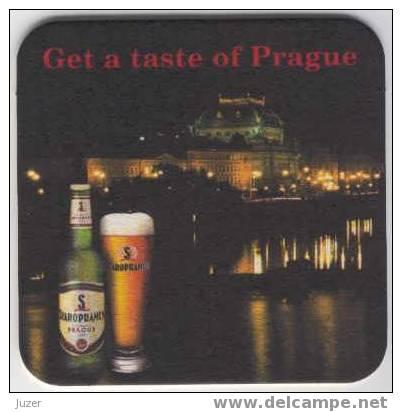 Czechia: STAROPRAMEN Beer Coaster (1) - Beer Mats
