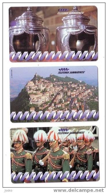 SAN MARINO - First Issue Cards In San Marino - SERIE STORICA - MINT & RARE Cards - Saint-Marin