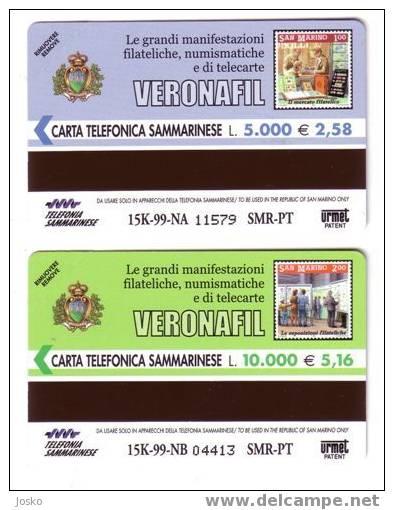 SAN MARINO - ROMEO & JULLIET - Amphithéâtre - Palace - Palais - Chateau - Stamp Verona - GREAT EVENS - MINT & RARE Cards - Saint-Marin