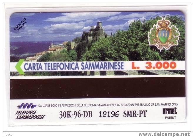 SAN MARINO  - Zodiac - Horoscope - Zodiaque - Zodiacs - Zodiaques -horoscopes- Castle Chateau RARE & MINT Card  ACQUARIO - Saint-Marin