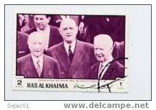 RAS AL KHAIMA - Général De Gaulle - Yvert 51 - Neuf - De Gaulle (General)