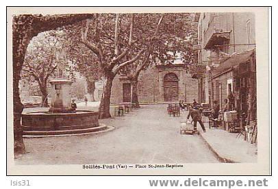 Dép 83 - Réf : 120 - Solliès Pont - Place Saint Jean Baptiste - Bon état - Sollies Pont
