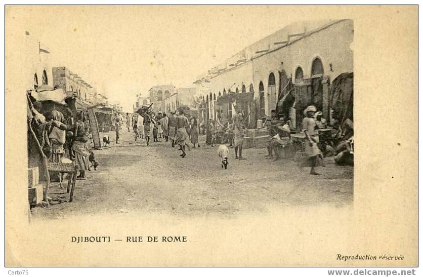AFRIQUE - DJIBOUTI - Rue De Rome - Marché Souks - Djibouti