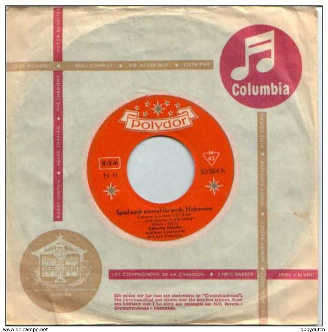 """* 7"""" * CATERINA VALENTE - SPIEL NOCH EINMAL FÜR MICH, HABANERO (1958 Ex-!!!) - Filmmusik"""