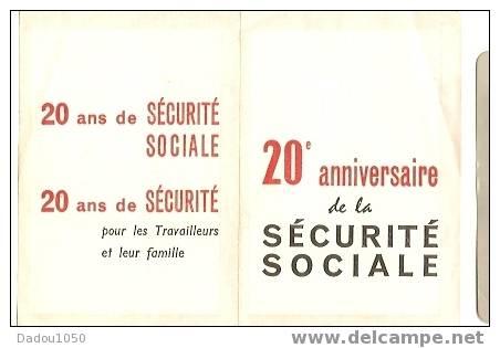 Calendrier De Poche  1966 ,20 Ans De Sécurité Social - Petit Format : 1961-70