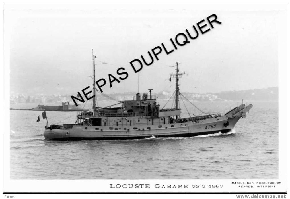 "3582 Gabare A765 ""LOCUSTE"" (23-02-1967) - Marine Nationale - Photo Marius Bar - Krieg"