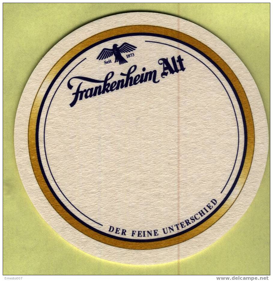 """BEERMAT FROM GERMANY - """"FRANKENHEIM ALT"""" NEW - Beer Mats"""