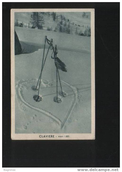ITALIA Postcard CLAVIERE - Mountaineering, Alpinism