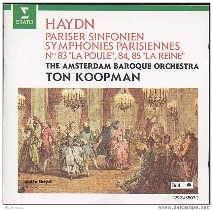 Haydn : Symphonies Parisiennes - Classique