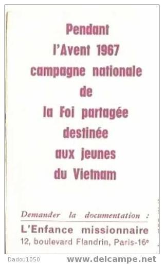Calendrier De Poche,l'enfance Missionnaire 1968 - Calendriers